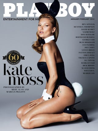Illustration for article titled Kate Moss 60th Anniversary Playboy Cover Reveal and Interview
