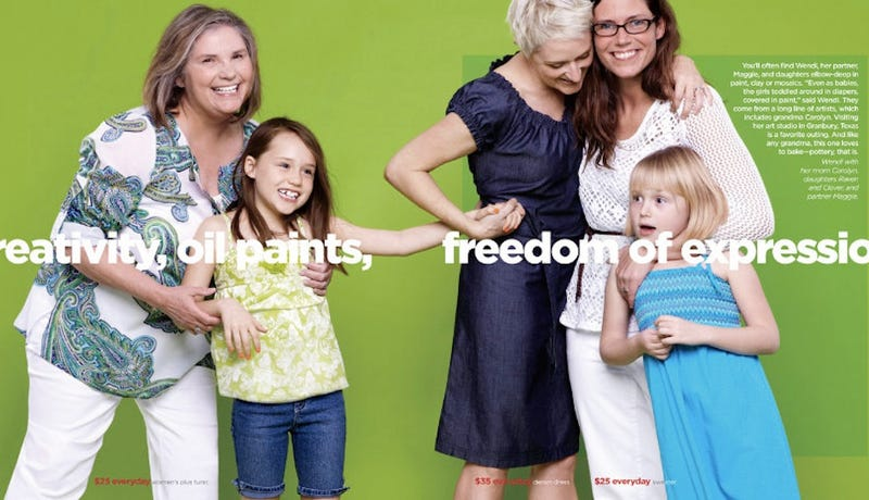 Illustration for article titled Irrelevant Homophobes Newly Enraged Over JC Penney Ad Showing Lesbian Couple Being Happy