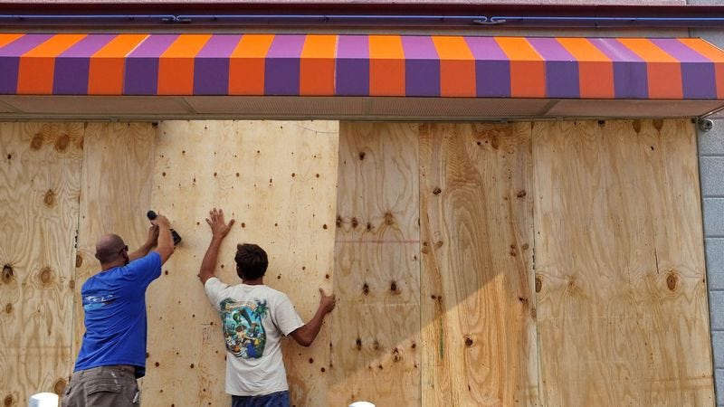 Illustration for article titled Baltimore Preparing For Hurricane Joaquin By Adding Second Layer Of Plywood To Shuttered Small Businesses