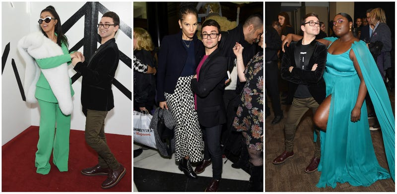 Fashion designer Christian Siriano with rapper Cardi B, The Glow Up's Veronica Webb and Orange Is the New Black's Danielle Brooks