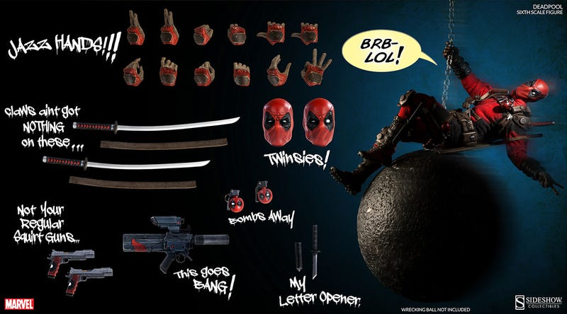 Illustration for article titled Even as a figure, Deadpool manages to break the fourth wall