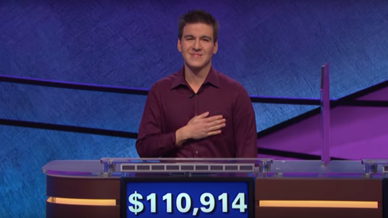 James Holzhauer, making more money in 24 minutes than most of us make in a year.