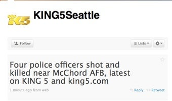 Illustration for article titled Four Police Officers Shot, Killed Near Air Force Base In Washington State