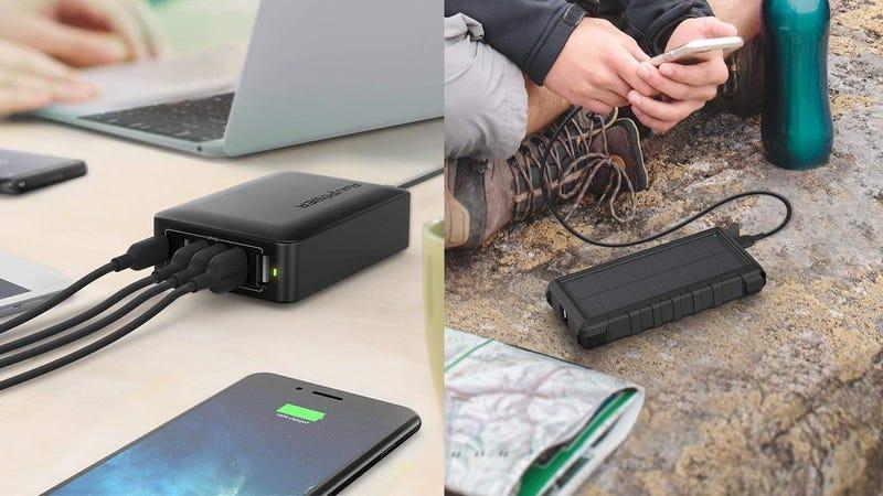 RAVPower USB-C Charging Hub | $19 | Amazon | Promo code A39DXT9SRAVPower 25,000mAh Solar Battery Pack | $38 | Amazon | Promo code WP2M4NLE