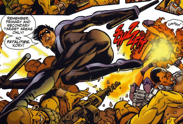 What are exapmles of bad things in comic books?