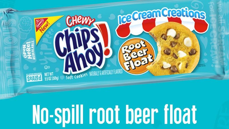 Illustration for article titled Chips Ahoy is making Root Beer Float cookies now, so we ate them