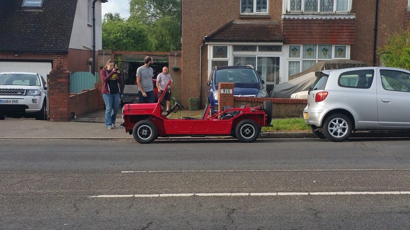 Illustration for article titled I was out running this morning, when suddenly, Mini Moke.
