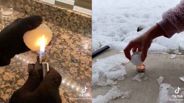 TikTok Users Are Burning Snowballs in Viral Videos to  Prove  the Snow is Fake