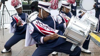 Drummers from Howard University's Marching Band perform in 2013SAUL LOEB/AFP/Getty Images