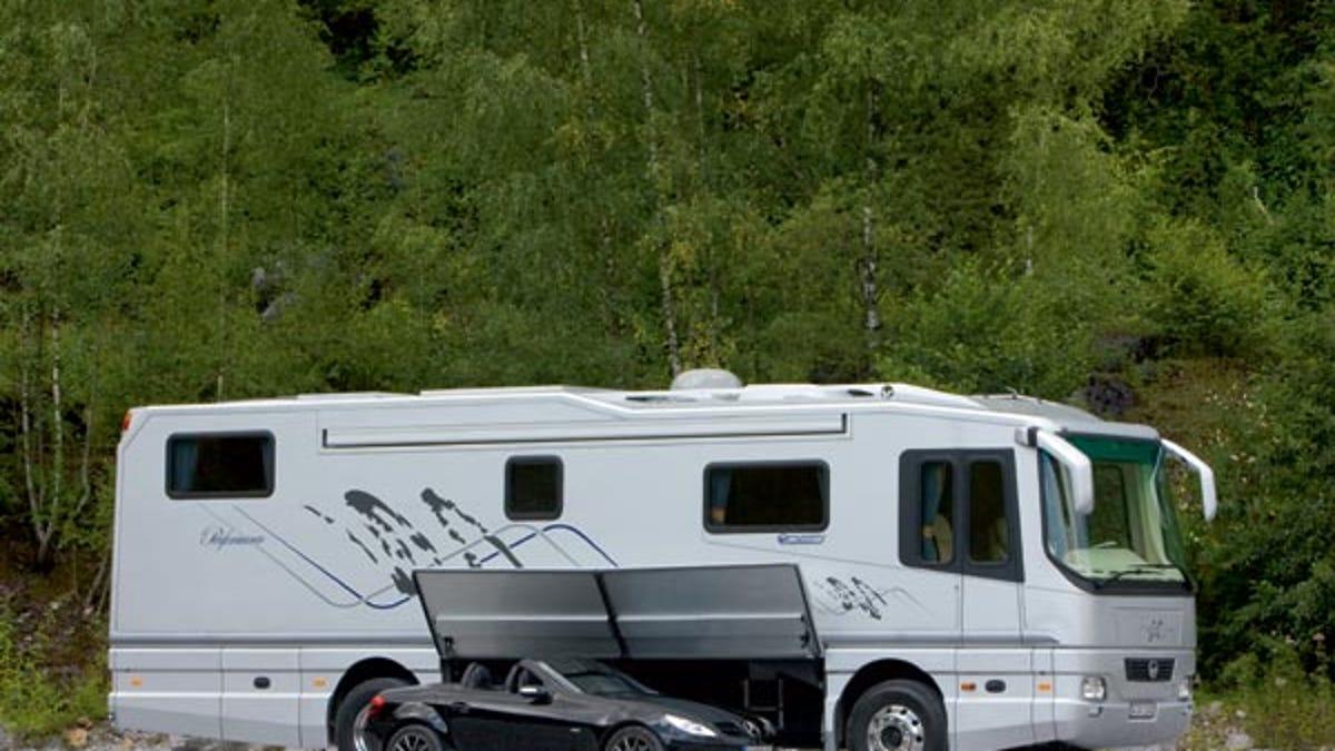 0d0840af50 Volkner Mobil Car-Carrying Motor Home Could Be Yours For  1.2 Million