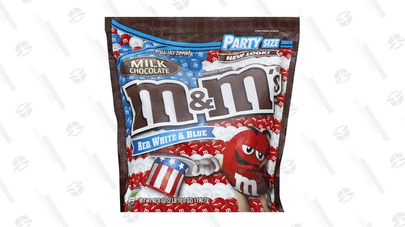 M&M's Red, White, & Blue Party Size Bag | $10 | Amazon | Clip 15% Coupon on page