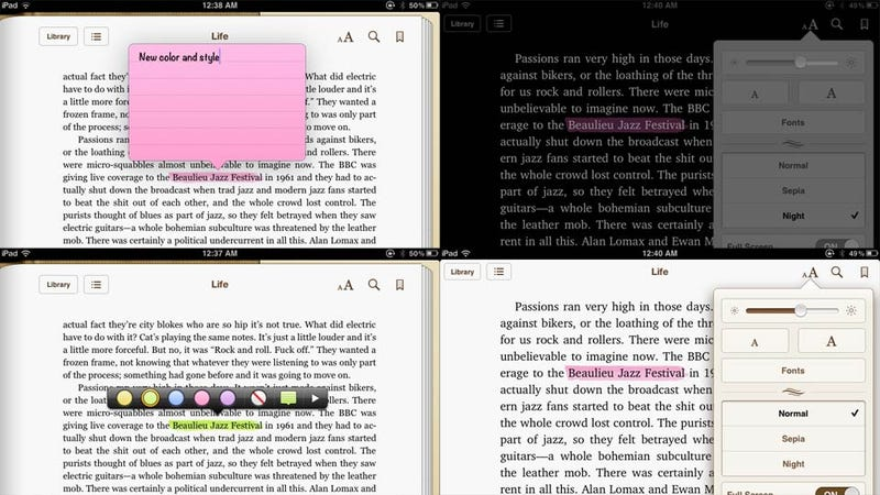 Illustration for article titled The New iBooks 1.5 for iPad and iPhone Is a Must Have Upgrade