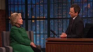 Hillary Clinton and Late Night With Seth Meyers host Seth MeyersNBC Screenshot