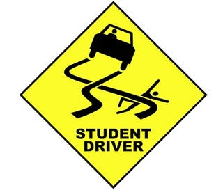 """Illustration for article titled Pro Tip: Print Off a """"Student Driver"""" Sign"""