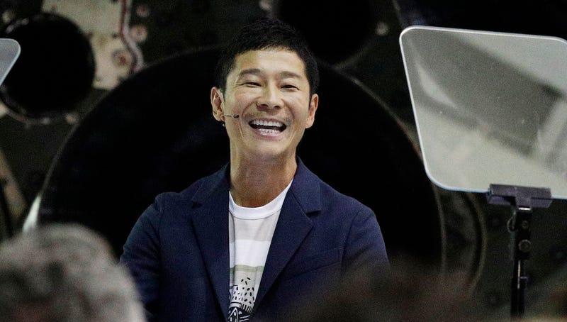 Yusaku Maezawa at SpaceX in September 2018