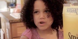 Star of the Cheerios spoof, Adriana Barnett (YouTube)