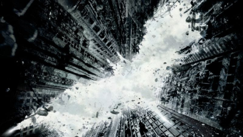 Illustration for article titled The Dark Knight Rises teaser poster: A dash of Inception, a hint of bureaucratic oversight