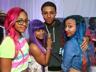 Diggy Simmons and the OMG Girlz at the 2012 BET Awards (Getty Images)