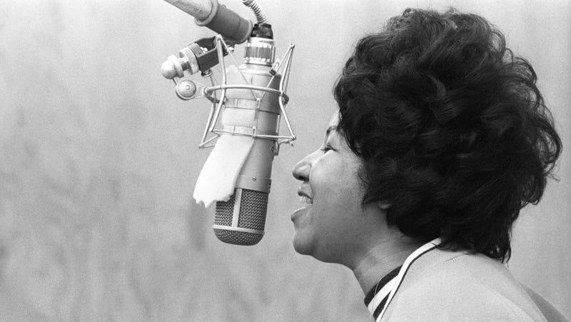 Franklin, recording in New York in 1969