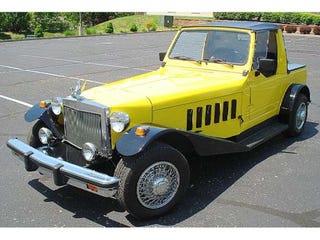 Illustration for article titled 1948 IH Truck Plus Suzuki Samurai Plus Lots Of Work Equals... Parade Car?