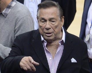 Los Angeles Clippers owner Donald Sterling attends the NBA playoff game between the Clippers and the Golden State Warriors on April 21, 2014, at Staples Center in Los Angeles.ROBYN BECK/AFP/Getty Images