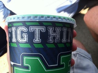 "Illustration for article titled Notre Dame Cups Support The ""Figthing"" Irish"