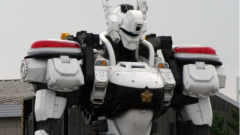 Illustration for article titled Japanese Mecha Cop Hints at a Glorious Movie Future