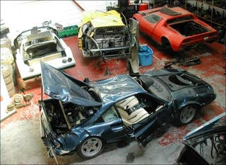 Illustration for article titled Eurospares Sells Wrecked Supercars, Oh The Humanity