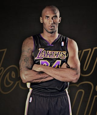 Illustration for article titled The Lakers Unveiled Their Black Jerseys
