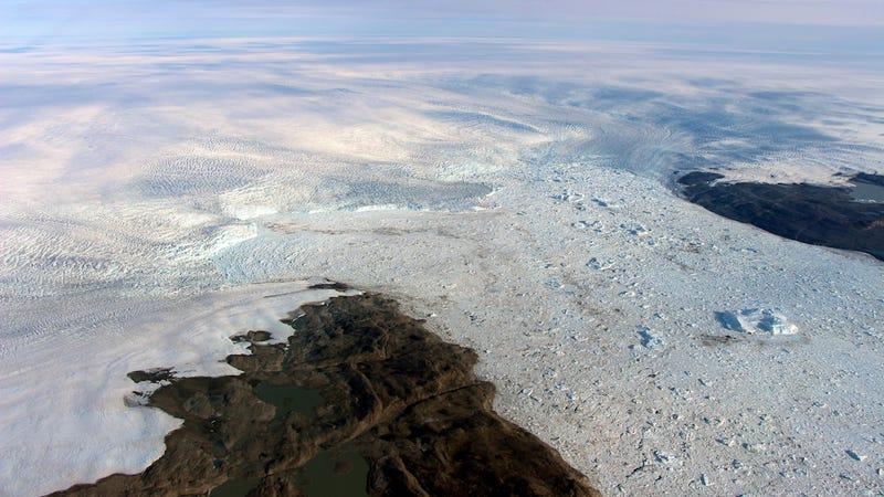 The front of Jakobshavn glacier.