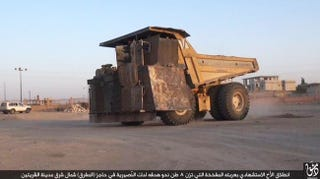 Illustration for article titled ISIS Used This Huge Crudely Modified Truck To Attack A Key Syrian Air Base