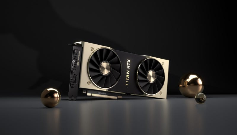Illustration for article titled What's the Deal With Nvidia's Ridiculous $2,500 Titan RTX Graphics Card?