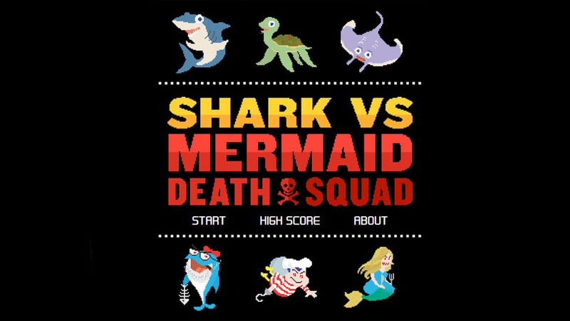 Illustration for article titled Shark vs Mermaid Death Squad Is A Free Game With A Rad Name