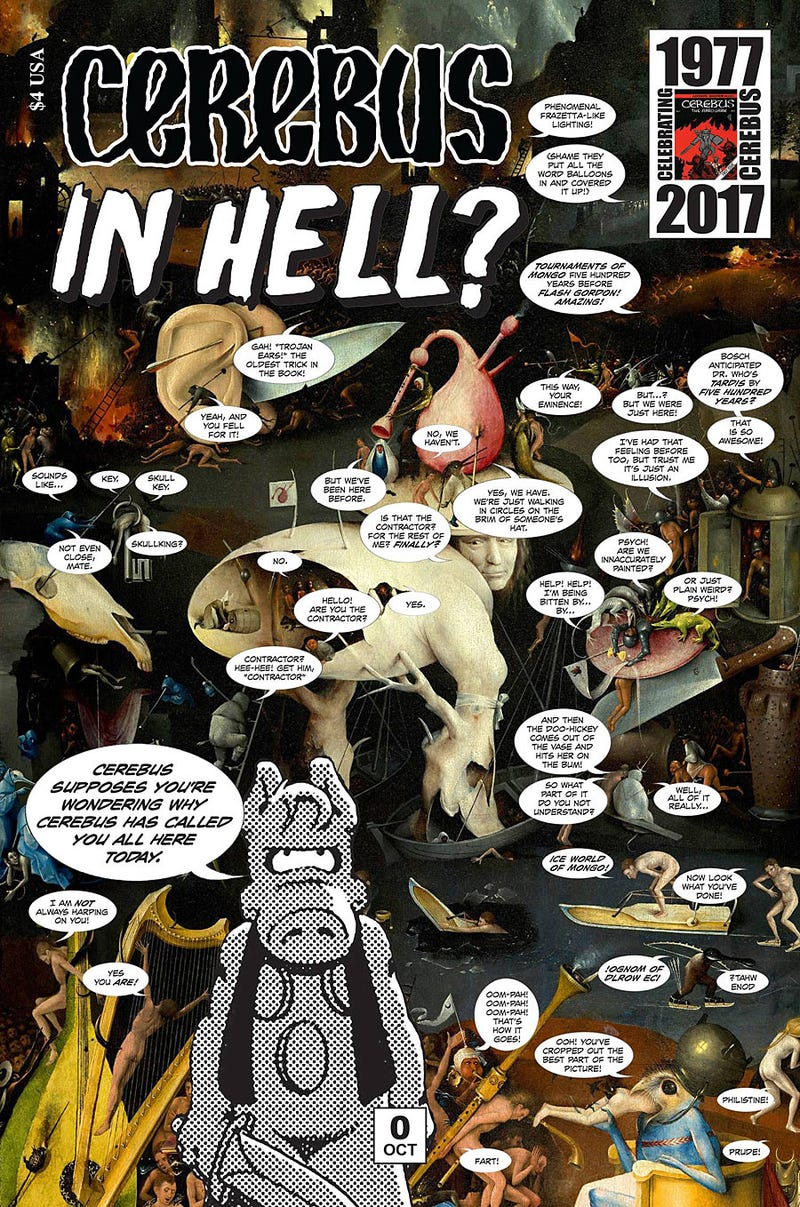 Illustration for article titled Cerebus Returns with Cerebus in Hell? Also What is Cerebus?