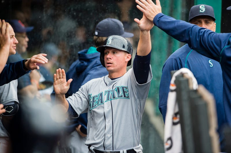 Steve Clevenger of the Seattle Mariners during a game April 21, 2016, in ClevelandJason Miller/Getty Images