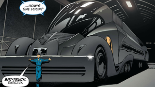 Illustration for article titled The BatmanComic's New Batmobile Is Ridiculous, But in the Best Way