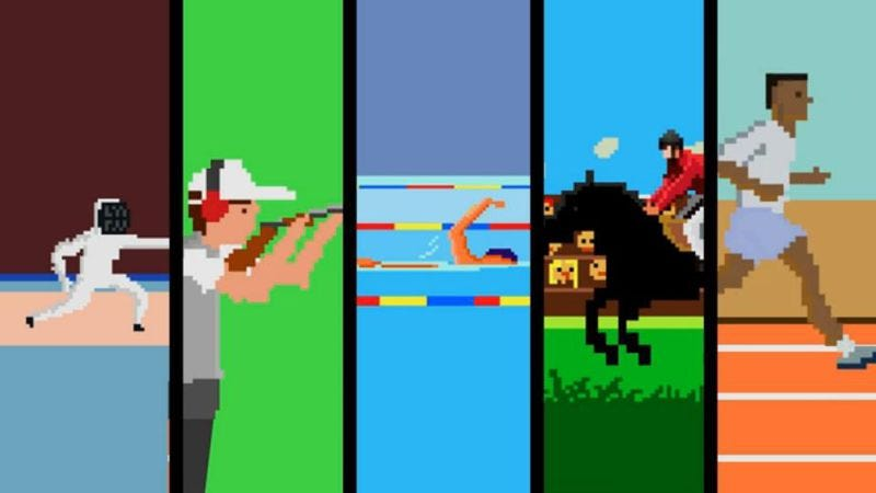 Illustration for article titled Celebrate the Olympics with this 8-bit montage