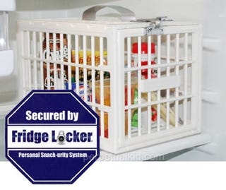 Illustration for article titled Fridge Locker Secures Your Snacks From Crappy Roommates and Co-Workers