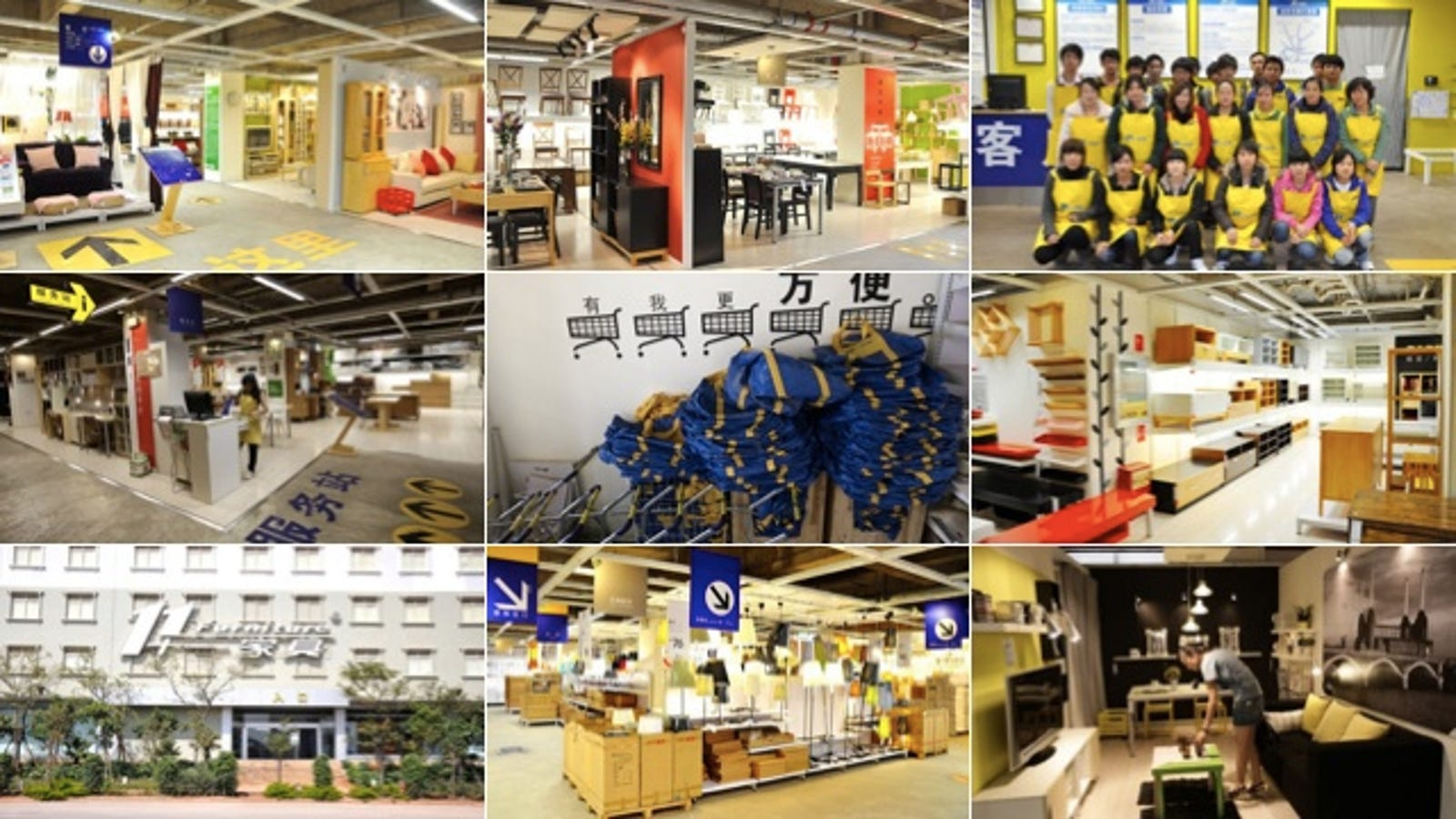 this fake chinese ikea store might be better than the real ikea. Black Bedroom Furniture Sets. Home Design Ideas