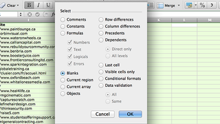 Illustration for article titled Delete Blank Rows and Columns in Excel with a Few Clicks