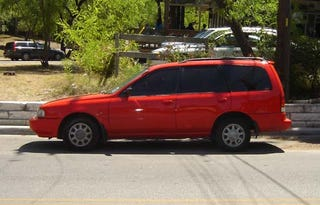 Illustration for article titled Mystery Nissan Minivan-ish Wagon Down On The Austin Street