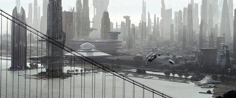 Illustration for article titled The Same Cityscape According To Star Trek And Terminator Salvation