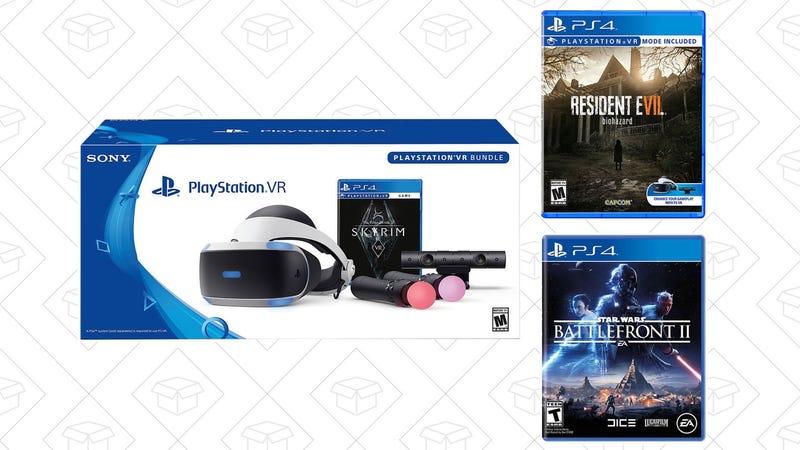 PlayStation VR Skyrim Bundle + Resident Evil Biohazard + Star Wars Battlefront II | $350 | eBay
