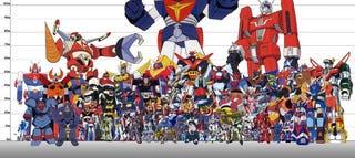 Illustration for article titled Robots míticos y mechas gigantes, comparados en tamaño