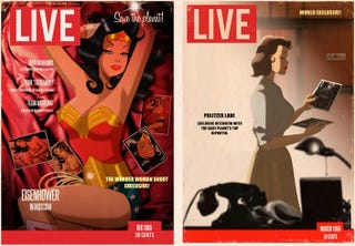 Illustration for article titled Superheroes grace the covers of Life Magazine