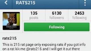 Screenshot of @Rats215 Instagram accountInstagram