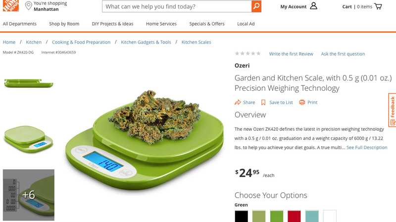 Looks Like Someone Hid a Weed Joke on Home Depot's Website