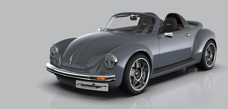 Illustration for article titled German Tuner Builds Mid-Engined 210 HP Old-School Beetle Roadster Because Life Is For The Living