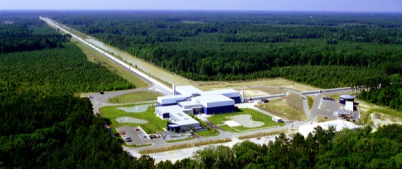 LIGO Livingston facility in Louisiana. Credit: LIGO Collaboration/NSF.