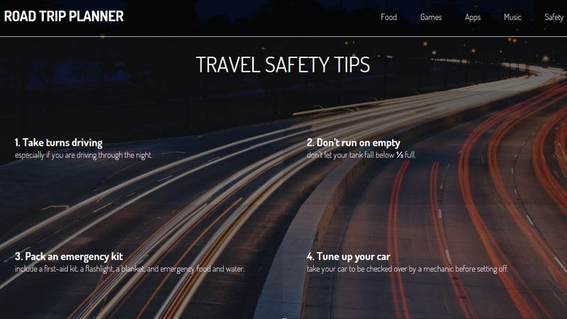 Driving Trip Planner >> Road Trip Planner Is A Cheat Sheet To Plan Your Journey
